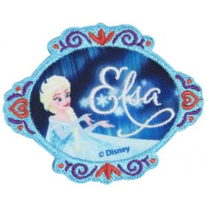 Disney Frost Strykmärke Elsa med Text 6