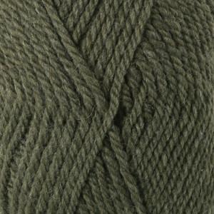 Drops Alaska Garn Unicolor 51 Oliv melerad