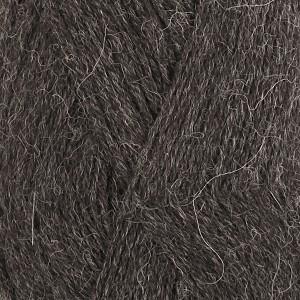 Drops Alpaca Garn Mix 506 Mörkgrå