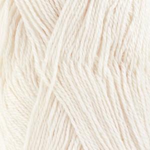 Drops BabyAlpaca Silk Garn Unicolor 1101 Vit