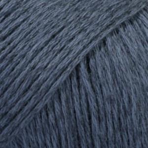 Drops Bomull-Lin Garn Unicolor 21 Mörkblå