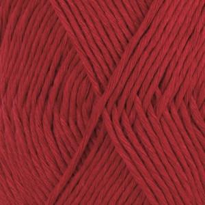 Drops Cotton Light Garn Unicolor 17 Mörk röd