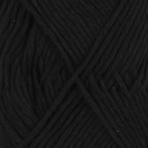 Drops Cotton Light Garn Unicolor 20 Svart