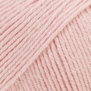Drops Cotton Merino Garn Unicolor 05 Puder Rosa