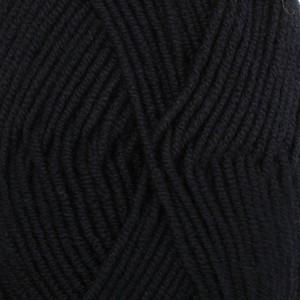 Drops Merino Extra Fine Garn Unicolor 02 Svart
