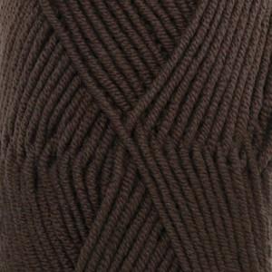 Drops Merino Extra Fine Garn Unicolor 09 Mörk brun
