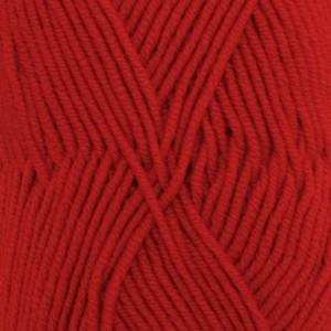 Drops Merino Extra Fine Garn Unicolor 11 Röd