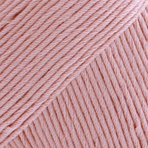 Drops Safran Garn Unicolor 01 Ljus Rosa