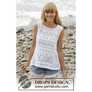 Erica Singlet by DROPS Design - Topp Stick-opskrift strl. S - XXXL
