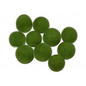 Filtkulor 10mm Grön GN4  - 10 st.