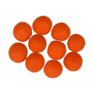 Filtkulor 20mm Orange R7 - 10 st.