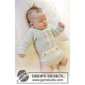 First Impression by DROPS Design - Baby Bodystock Stick-mönster strl.