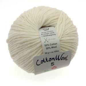 Gepard Garn CottonWool 5 Unicolor 101 Råvit