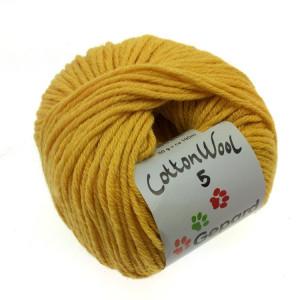 Gepard Garn CottonWool 5 Unicolor 122 Stark Gul