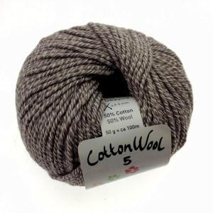 Gepard Garn CottonWool 5 Unicolor 148 Rådjursbrun