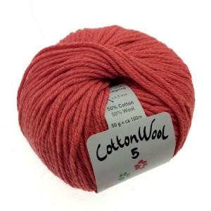 Gepard Garn CottonWool 5 Unicolor 208 Dov Korall