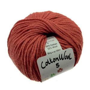 Gepard Garn CottonWool 5 Unicolor 355 Dovt Vinröd