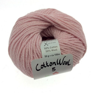 Gepard Garn CottonWool 5 Unicolor 410 Ljus Rosa