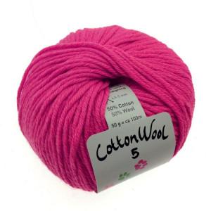 Gepard Garn CottonWool 5 Unicolor 430 Mörk Rosa
