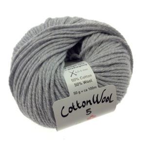 Gepard Garn CottonWool 5 Unicolor 506 Ljus Grå