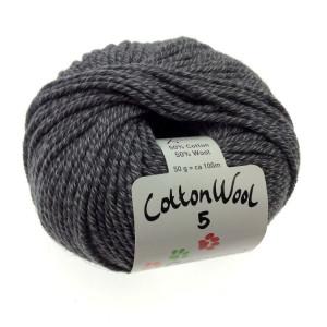 Gepard Garn CottonWool 5 Unicolor 520 Antracit Grå