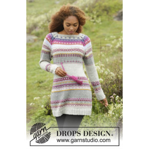 Highland Heather by DROPS Design - Klänning Stick-opskrift strl. S - X