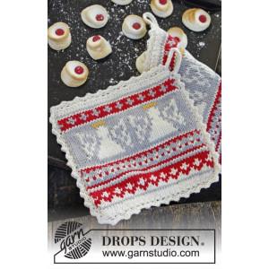 Holy Cookie! by DROPS Design - Grytlappar Stick-opskrift 20x20 cm - 2