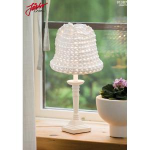 Hoooked Liten skärm till bordslampa -  Lampskärm Virk-mönster 52x25 cm