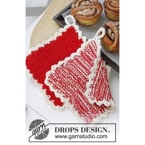 Hotspot by DROPS Design - Grytlappar Stick-opskrift 21x21 cm