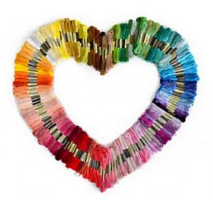 Infinity Hearts Broderigarn / Broderitråd 100 Ass. färger