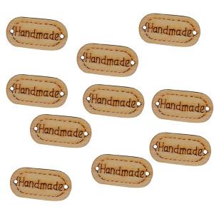 Infinity Hearts Label Trä Handmade 22x11mm - 10 st
