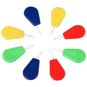 Infinity Hearts Nålträdare / Nålpåträdare Plast Ass. färger - 10 st.