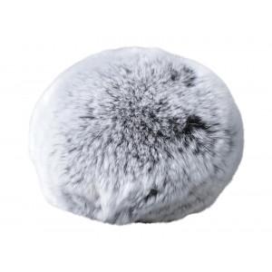 Infinity Hearts Pompon Tofs Rex Kaninhår Grå 100 mm