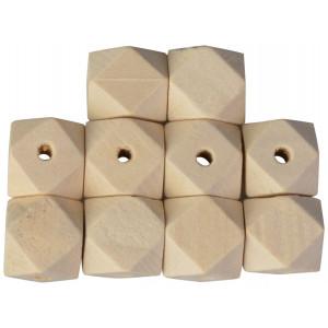 Infinity Hearts Träpärlor Geometriska 12 mm - 10 st.