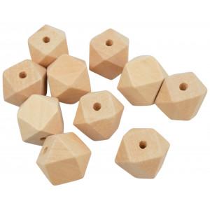Infinity Hearts Träpärlor Geometriska 20 mm - 10 st