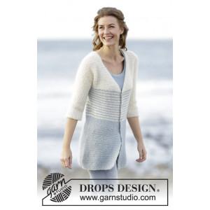 Irish Sea Cardigan by DROPS Design - Jacka Stick-opskrift str. S - XXX