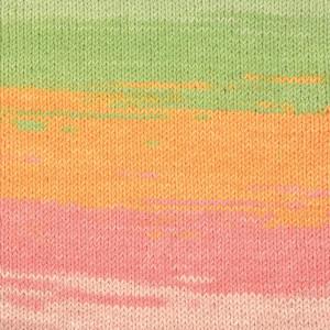 Järbo Elise Garn Print 69018 Orange/Rosa/Grön