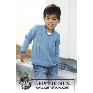 Julien by DROPS Design - Tröja Stick-opskrift str. 3/4 - 11/12 år