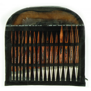KnitPro Ändstickorset Trä Set med utbytbara kablar 8 storlekar 4 längd