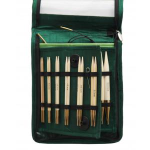 KnitPro Bamboo Ändstickorset Bambu 60-80-100 cm 3-10 mm 10 storlekar D