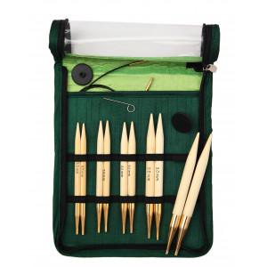 KnitPro Bamboo Ändstickorset Bambu 60-80-100 cm 6-10 mm 5 storlekar Ch
