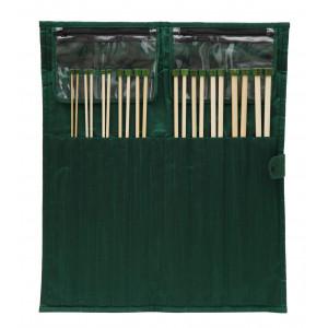 KnitPro Bamboo Jumperstickor set Bambu 25 cm 3-10 mm 10 storlekar