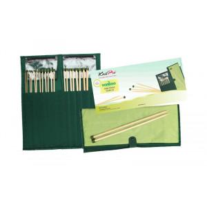 KnitPro Bamboo Jumperstickor set Bambu 30 cm 3-10 mm 10 storlekar
