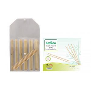 KnitPro Bamboo Strumpstickset Bambu 15 cm 2-5 mm 7 storlekar