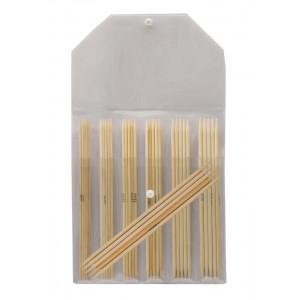 KnitPro Bamboo Strumpstickset Bambu 20 cm 2-5 mm 7 storlekar
