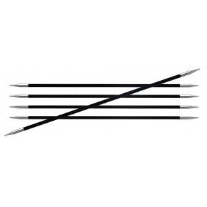 KnitPro Karbonz Strumpstickor Kolfiber 15cm 4