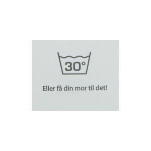 Label Tvätt 30 Grader Vit - 1 st.