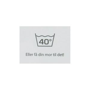 Label Tvätt 40 Grader Vit - 1 st.