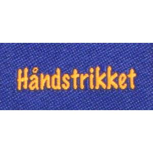 Label dubbelsidig Håndstrikket Marinblå