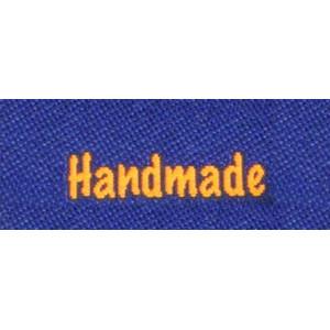 Label dubbelsidig Handmade Marinblå